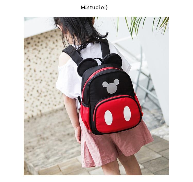 Disney Mickey mouse Children's School Bag Kindergarten Boy Girl Baby Backpack Minnie Plush Bag Cartoon Backpack Kid's Gifts